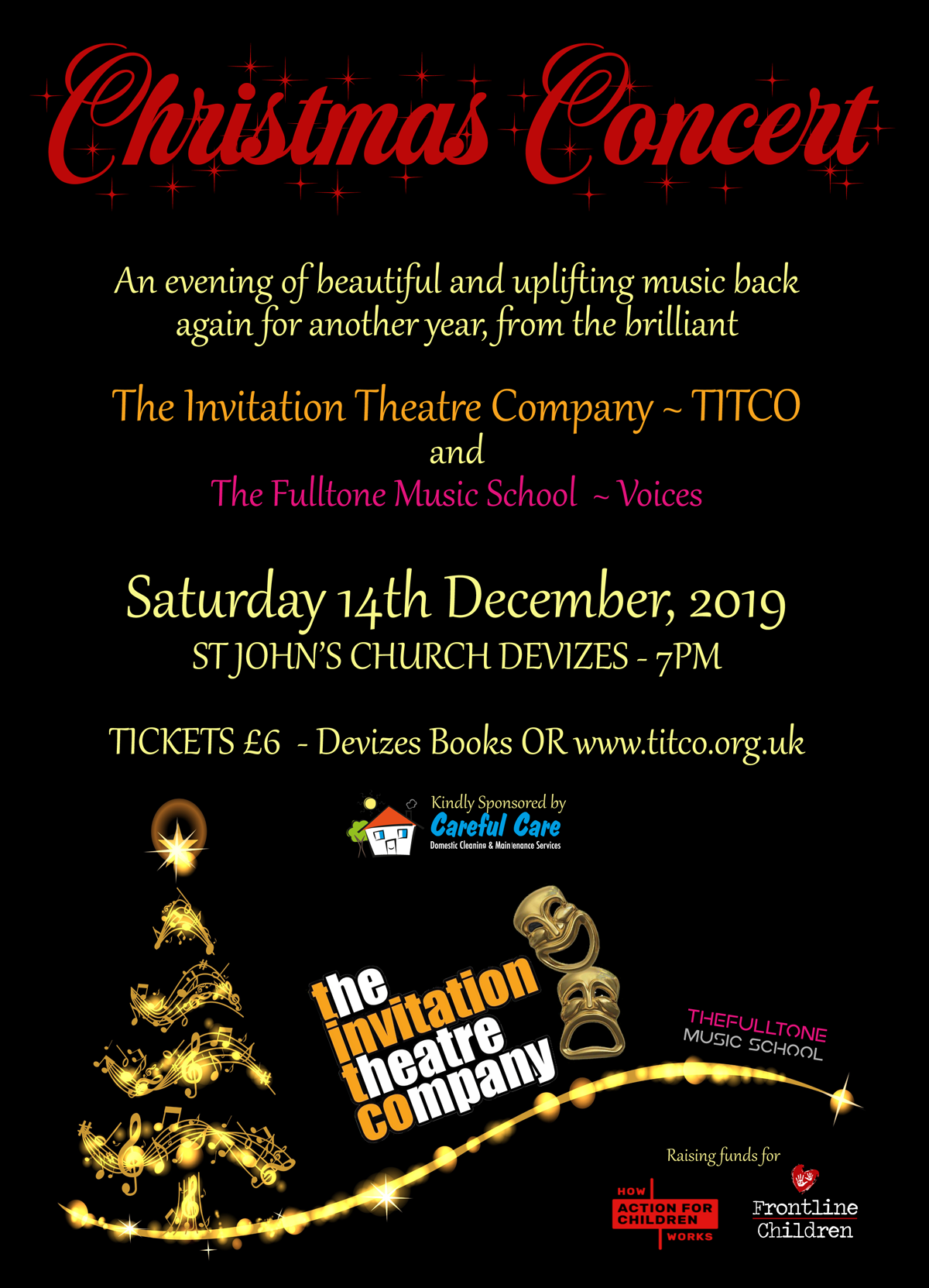 'Christmas Concert 2019' poster for TITCO
